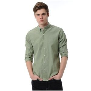 New Levi's Green Button Down Casual Dress Shirt